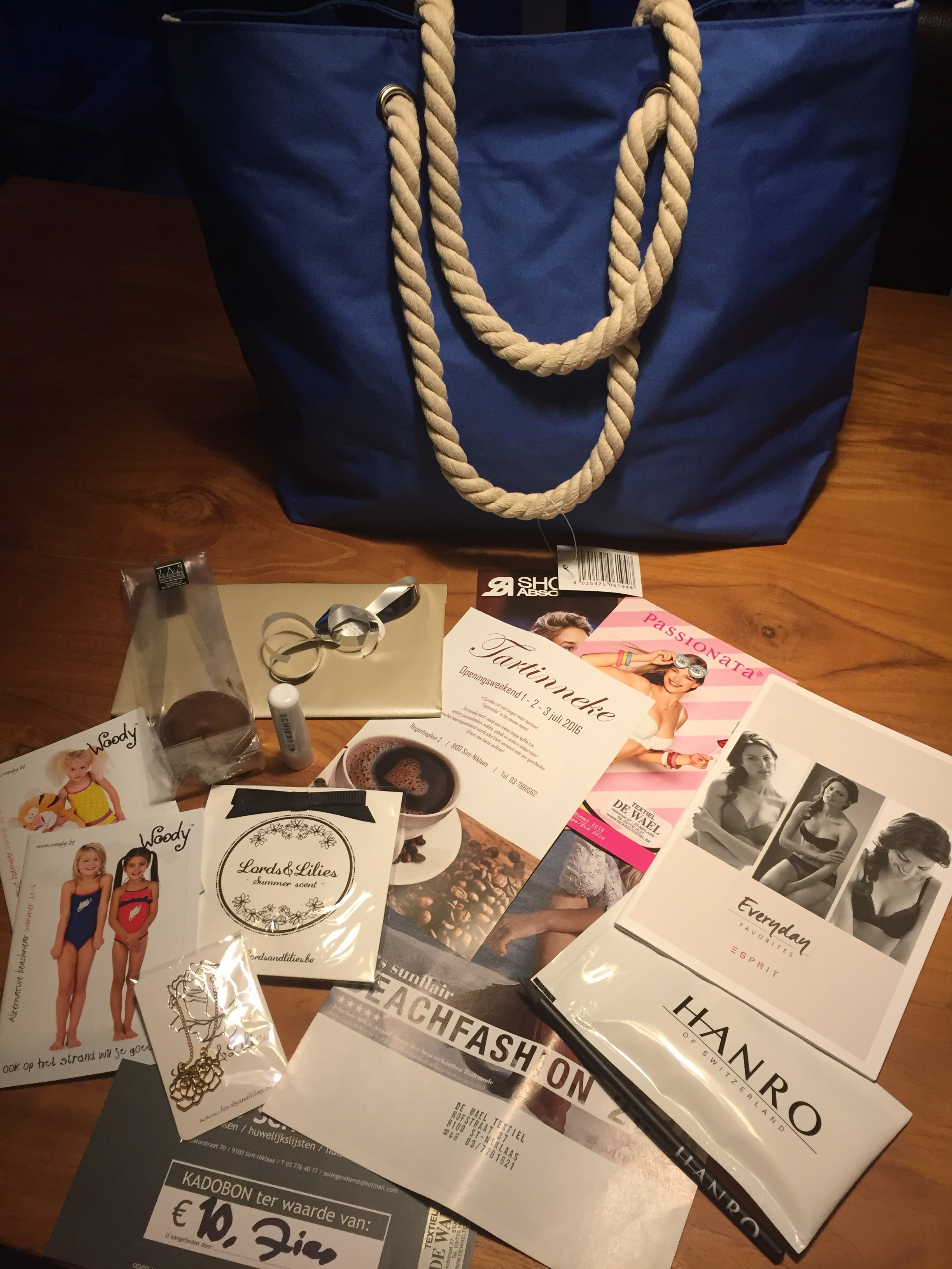 ladies night bij De Wael Textiel goodiebag